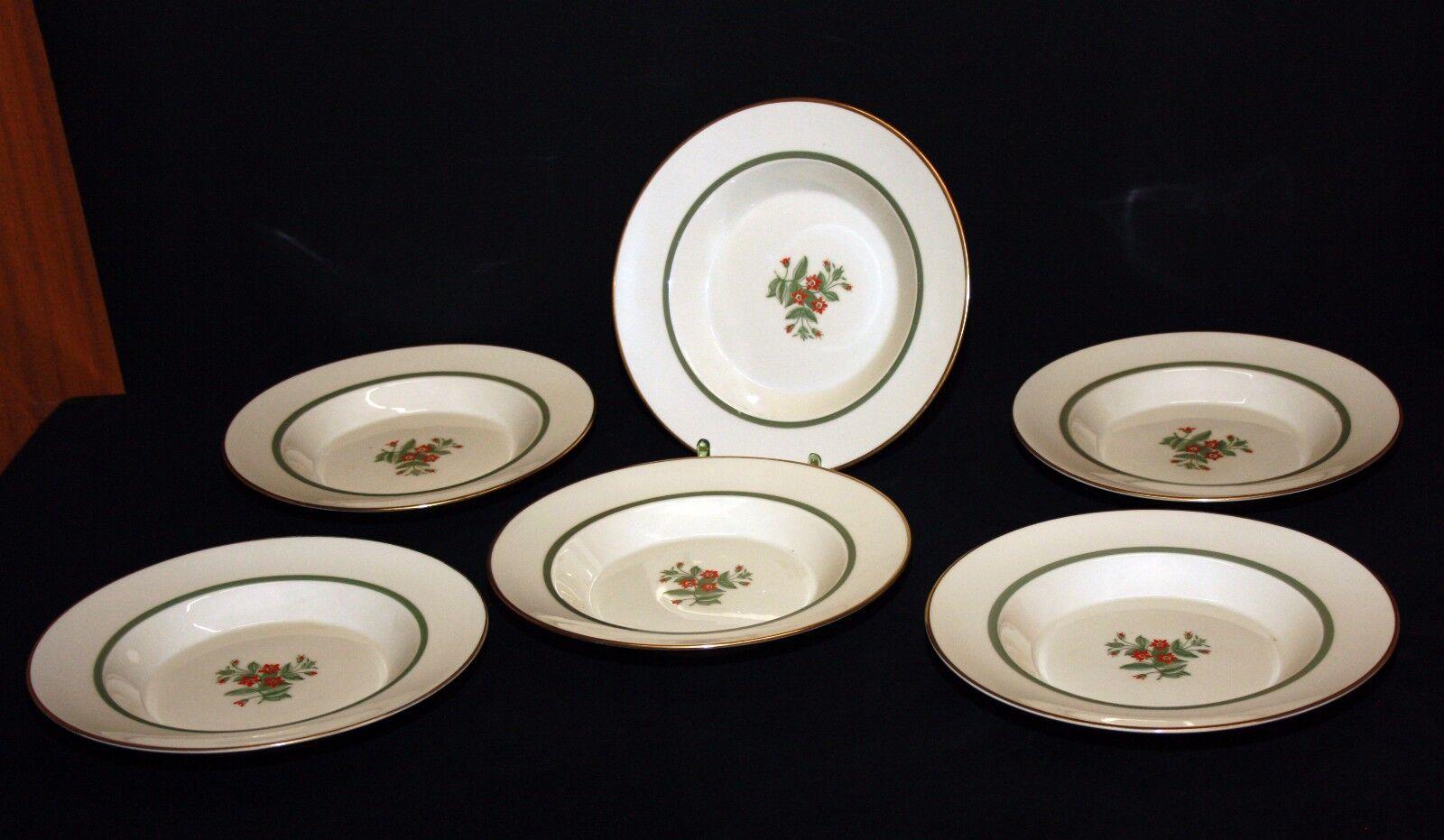 6x Suppenteller Teller Royal Copenhagen Denmark rote Blaume 1010 1010 1010 9587    | Bevorzugtes Material  b357eb
