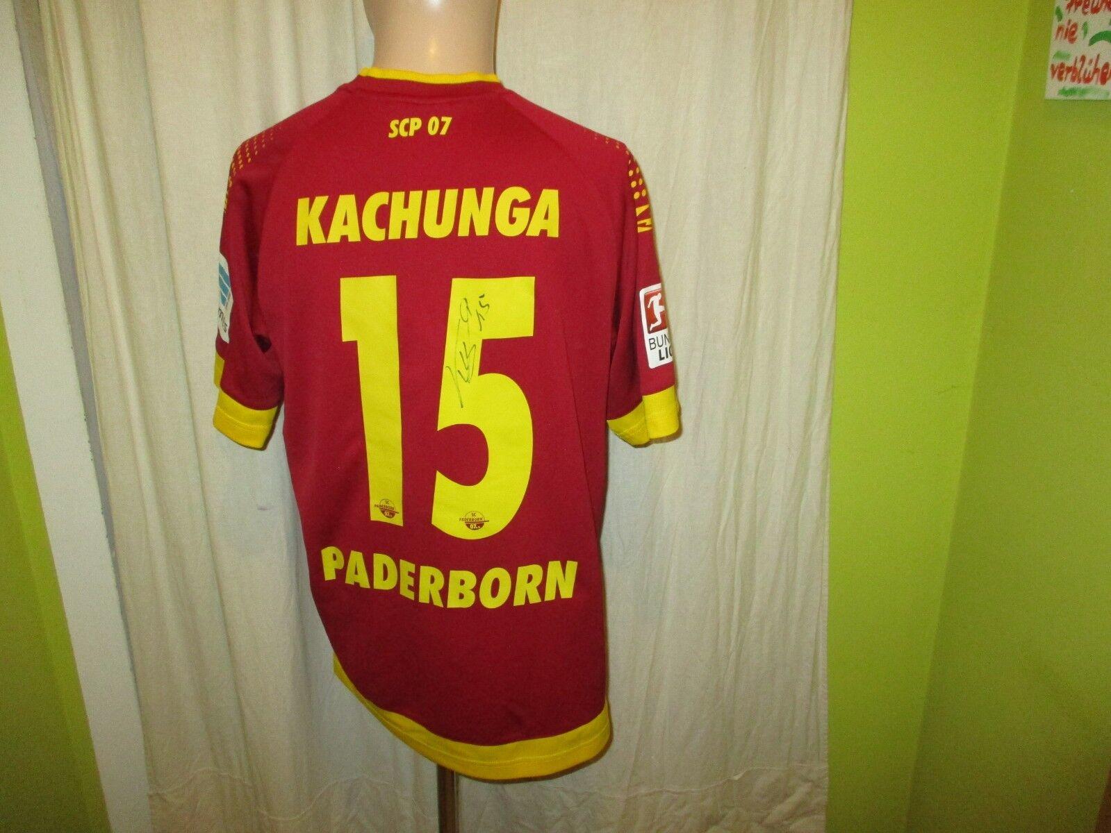 SC PADERBORN Saller Matchworn Jersey 2014 15 + no 15 kachunga + Signed Größe M