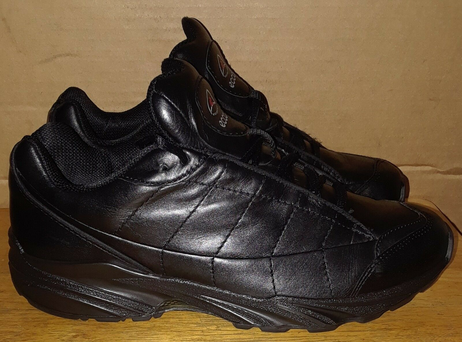 Ecco Receptor Black Leather Cambridge Men's  EU 41 US 7.5-8