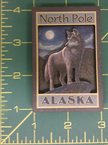 North-Pole-Alaska-Wolf-and-Full-Moon-layered-3D-style-magnet-Alaska-Magnet
