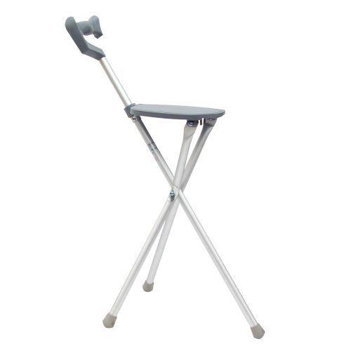 Exceptionnel Cane Walking Stick Seat Folding Portable Travel Camp Stool Chair Silver 250  Poun   EBay