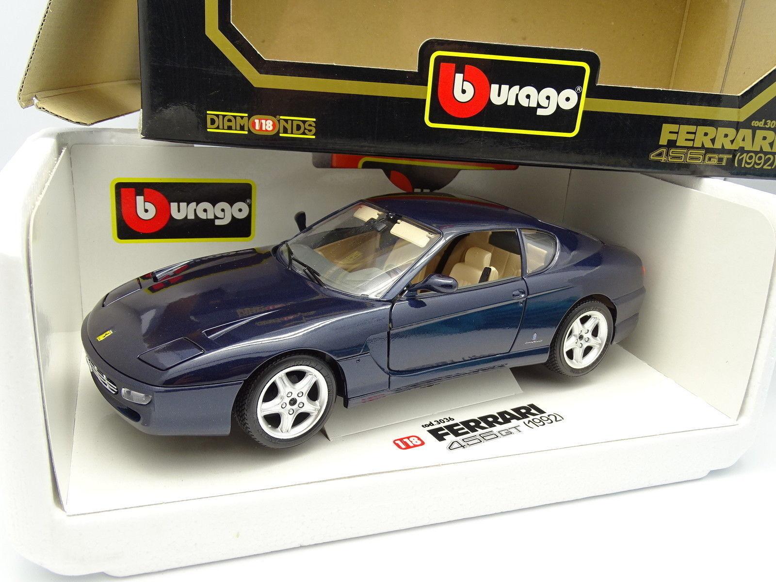 Burago 1 18 - Ferrari 456 GT 1992 Bleue