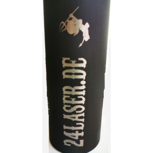 """Alu Trinkflasche mit Gravur 800ml/""""Schwarz/"""""""