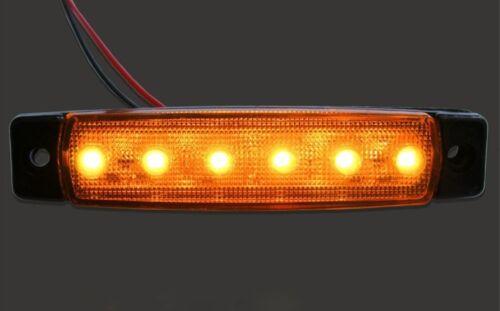 10 pcs x 24V 6 LED Side Marker Orange Amber for Iveco Scania Man Daf Volvo Ford
