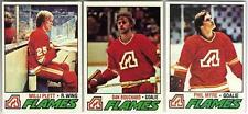 6 1977-78 TOPPS HOCKEY ATLANTA FLAMES CARDS (PLETT RC/BOUCHARD/MYRE+++)