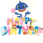 BABY-SHARK-balloon-balloons-cake-topper-decoration-supplies-party-cupcake-BANNER thumbnail 34