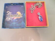 FINAL FANTASY X Necklace And Blue Pendant F F 10 COSPLAY Video Game NEW IN BOX