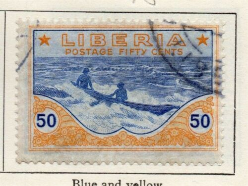 Liberia 1921 Early Issue Fine Used 50c. 148285
