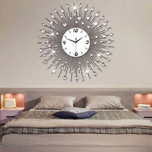 Peacock Iron Art Metal Living Room Wall Clock Modern Home Decor Us Shipping Ebay