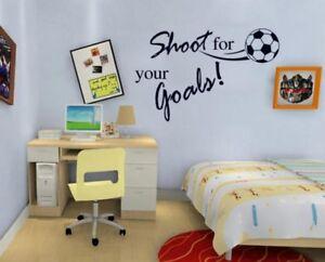 Wandtattoo-Wandsticker-Wandaufkleber-Fussball-Fans-Jungezimmer-Kinderzimmer-Ball
