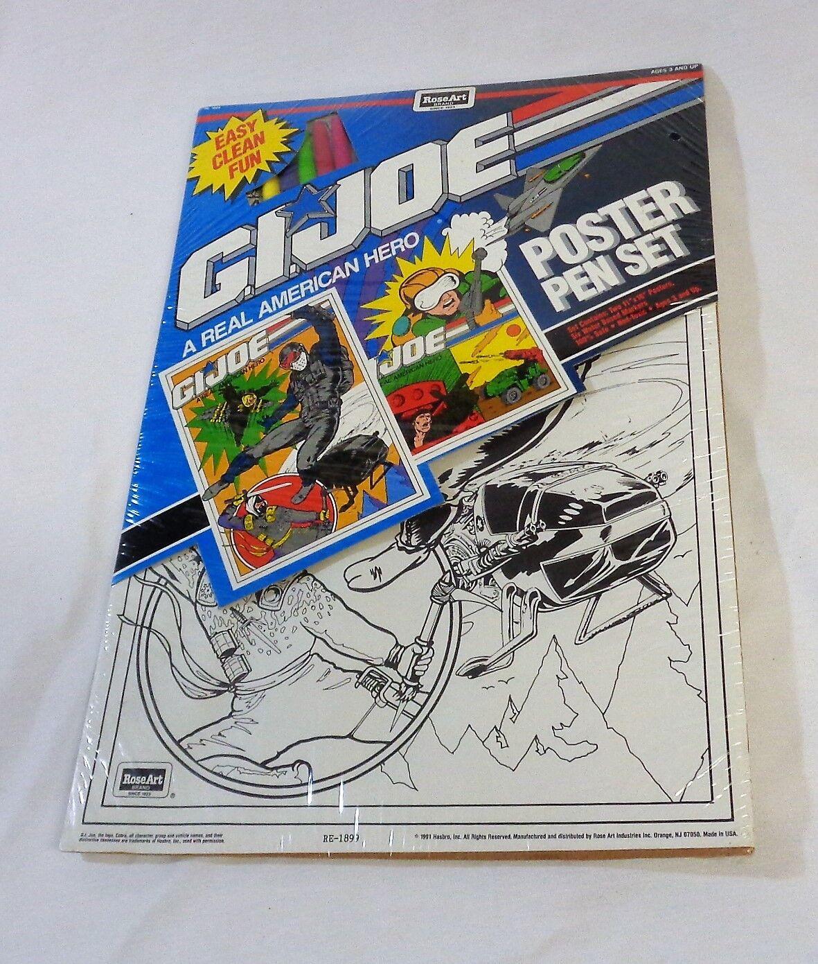 1991 vintage g.i. joe Rosa art zeichenbrett farbe poster & stift wurde versiegelt, neue