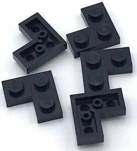 Lego-5-New-Black-Plates-2-x-2-Dot-Corner-Pieces