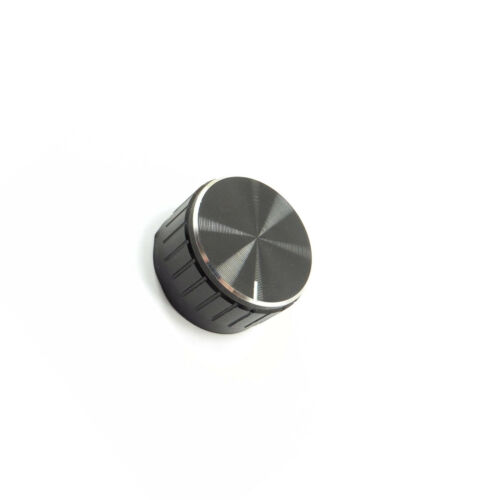 6mm Knurled Aluminum Knob for Potentiometer 30mm Volume Control Cap BLACK