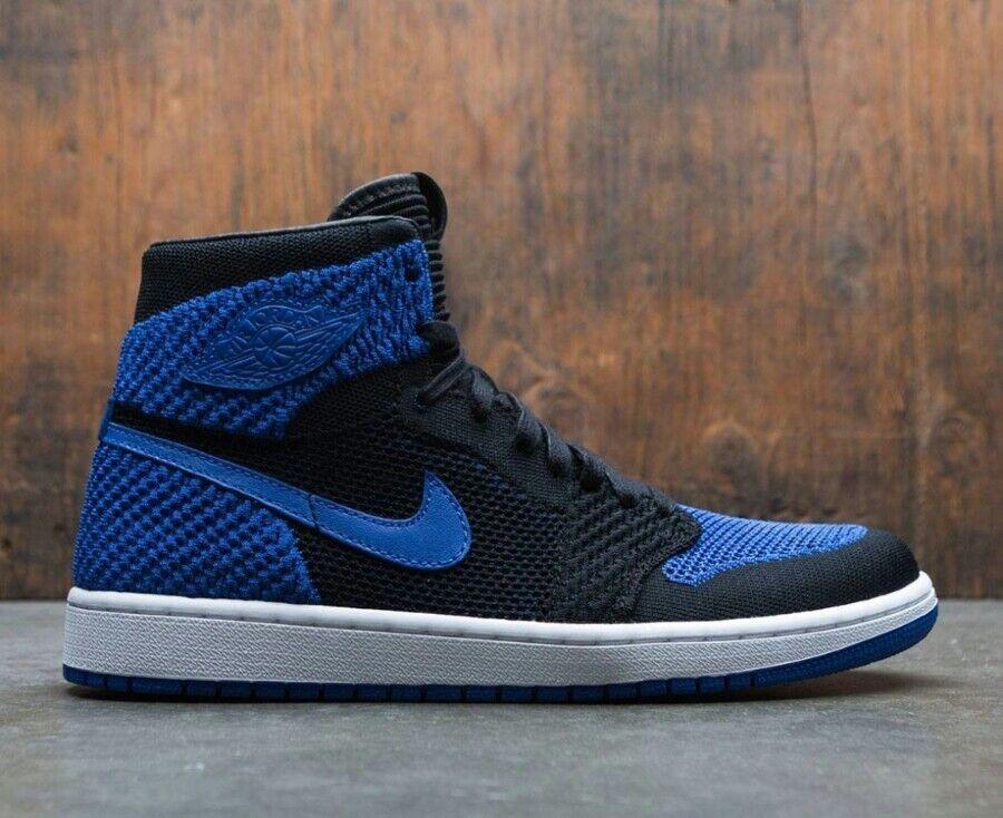 14 14 14 Uomini Nike Air Jordan 1 'Ciao Flyknit   Blu Reale 919704 006 Nero 9c2720