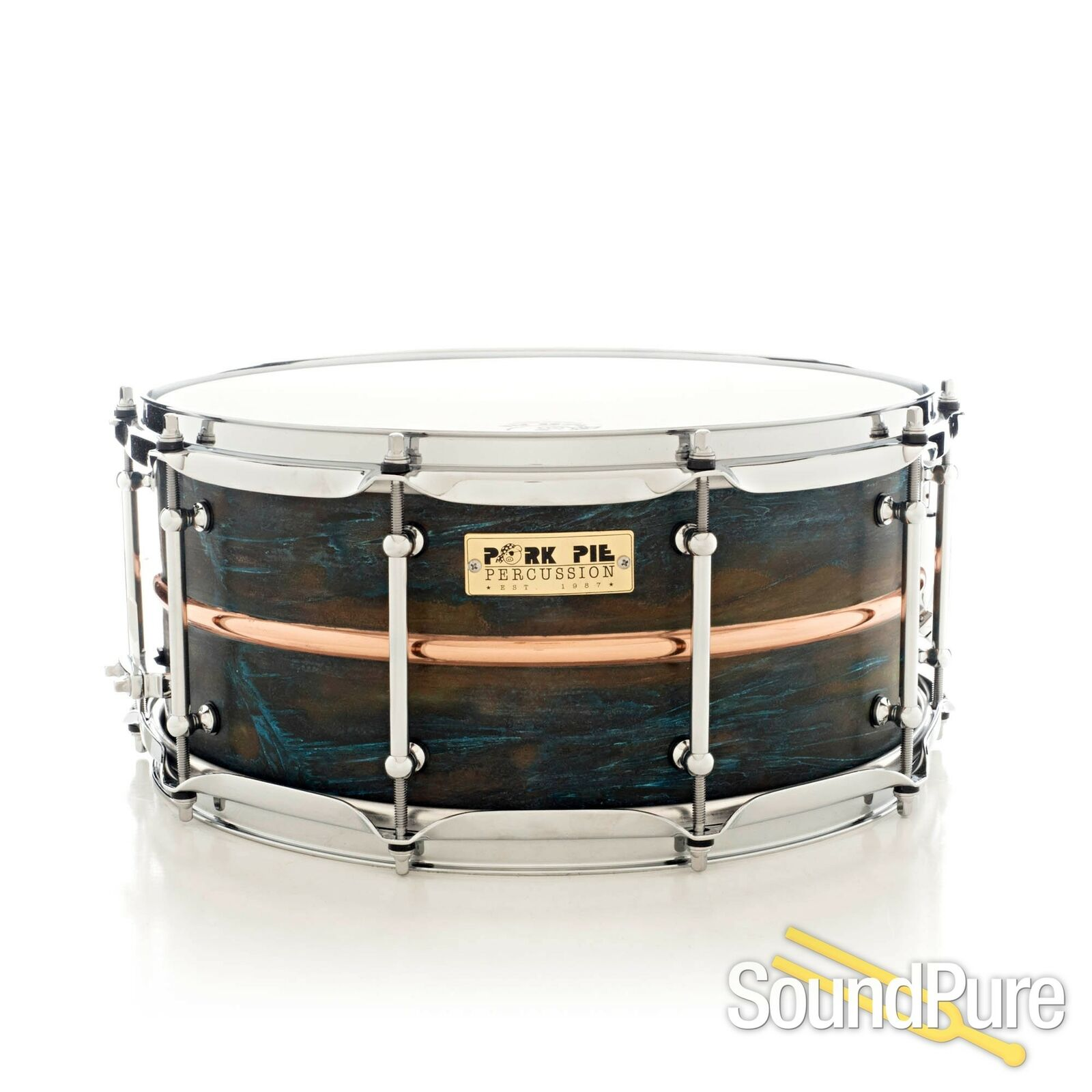 Pork Pie 6.5x14 Copper Patina Snare Drum