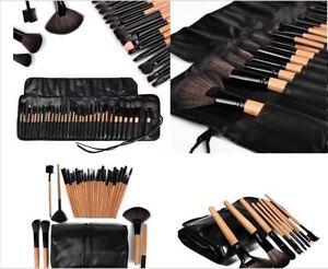 32tlg-Schwarz-Professionelle-Kosmetik-Pinsel-Set-Make-up-Brush-Kit-Schminkpinsel