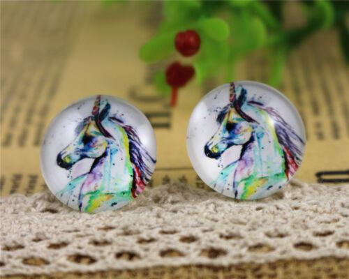 20mm Handmade Glass CabochonsHorse or Unicorn Designs10pcs