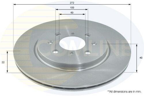Comline Front 2x Coated Brake Discs Vented Fits Suzuki CTW841