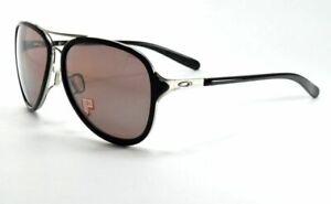 Oakley Kickback POLARIZED Sunglasses OO4102-04 Chrome & Black W/ Purple Rose