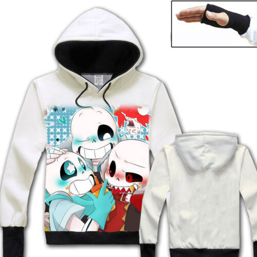 Cosplay Winter Anime Game Undertale Unisex Pullover Sweatshirts Coat Hoodie #9
