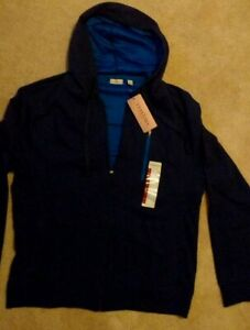 BNWT-Men-039-s-Tehama-Light-Jacket-Navy-Blue-with-Royal-Blue-Borders-SZ-XL-L