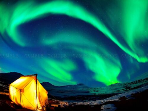 NORTHERN LIGHTS SKY GREEN PHOTO ART PRINT POSTER PICTURE BMP757A