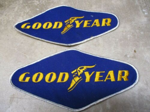 "NOS 2 big 8/"" Goodyear Tire Embroidered Patches for Racing Jackets etc."