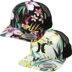 Image is loading Hurley-Women-039-s-Floral-Garden-Trucker-Hat- 09ffddbe8c5c