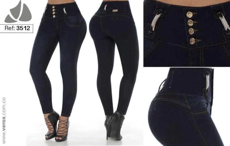 Original Made in Colombia Verox push up 3512 indigo bluee high waist skinny jeans
