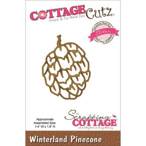 """CottageCutz Elites Die ~ Winterland Pinecone 1.4/""""X1.8/"""" CCE053 ~ NIP"""