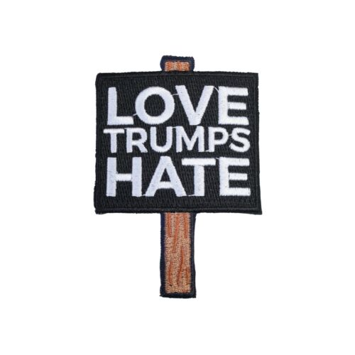 Love Trumps Hate Iron On Patch Anti President Donald Protest Sign Gift Clothing