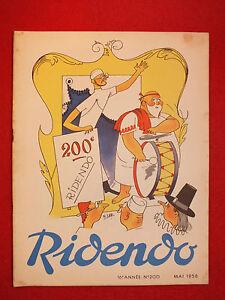 REVUE-HUMORISTIQUE-RIDENDO-N-200-MAI-1956-200e-NUMERO