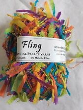 Crystal Palace Yarns Fling #3536 Chard Green Paper Flag Metallic Sparkle 50gr