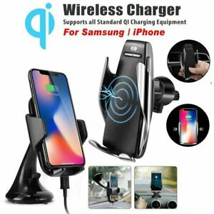 Details about 10W Wireless Car Charger Smart Sensor Charging Holder For  iPhone Samsung Phones