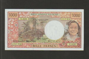 French-Pacific-Territory-1000-Francs-Banknote-1996-Uncirculated-Cat-2-5B-5790