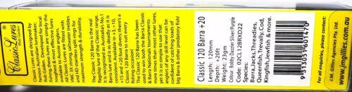Jm Gillies Klassisch 120mm 6m//6.1m Farbe Bobby Dazzler Gold