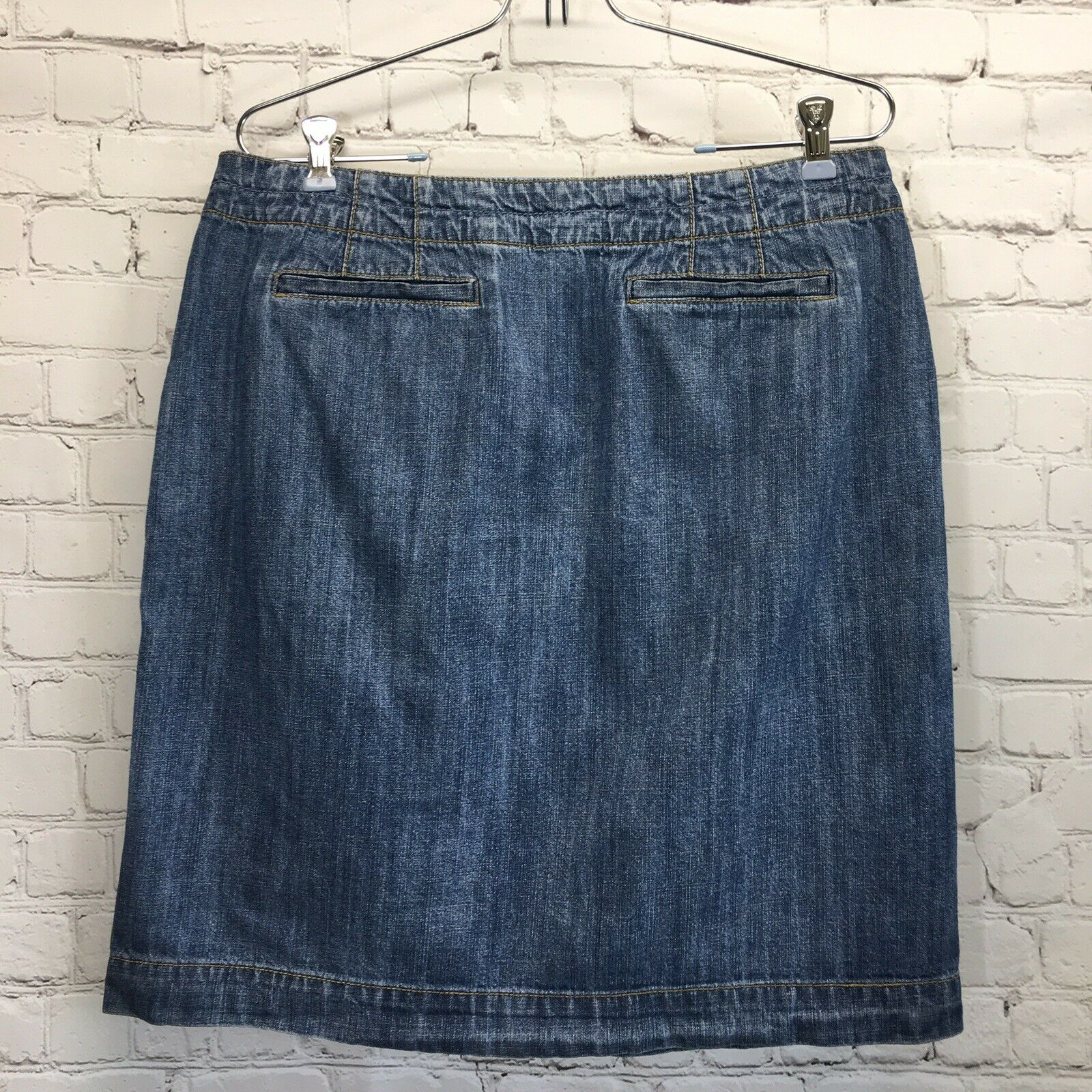 Liz & Co Button Front Denim Skirt Womans 10 Mediu… - image 3