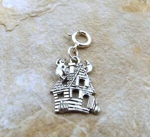 Pewter-Haunted-House-Charm-on-a-Silver-8mm-Spring-Ring-5210