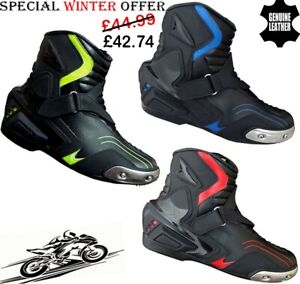 MENS-HiViz-RED-BLUE-amp-BLACK-MOTORBIKE-MOTORCYCLE-RACING-BOOTS-SPORTS-SHOES