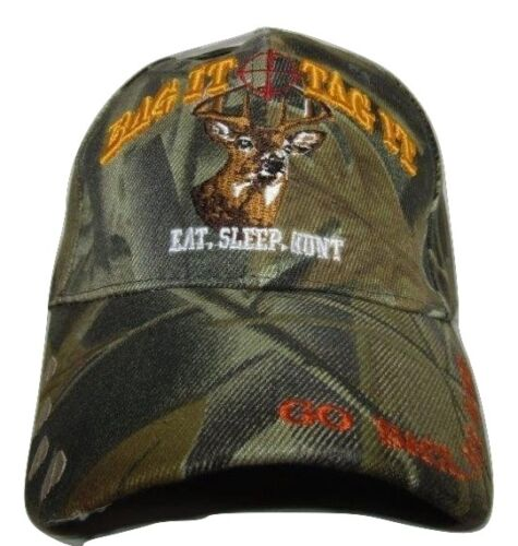 Eat Sleep Hunt Hunting Bag It Tag It Camouflage Embroidered Cap Hat CAP895