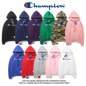 Champion-Herren-Damen-Top-Hoodie-Sweatshirt-Hoody-Warm-Sweater-Kapuzenpullover