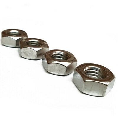 Hex Full Nut A2 Stainless Steel DIN 934 M2 M3 M4 M5 M6 M8 M10 M12 M14 M16 M30