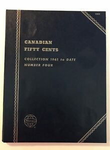 CANADIAN-HALF-DOLLAR-1961-DATE-9094-COIN-FOLDER-BY-WHITMAN-NEW-OLD-STOCK