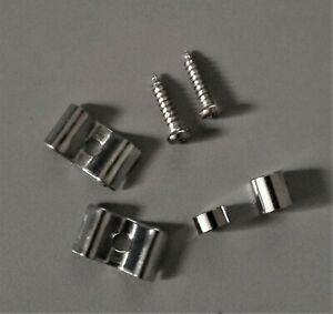 Electric-Guitar-String-Trees-with-Screws-amp-Spacers-Chrome-1-Pair-FREE-POSTAGE