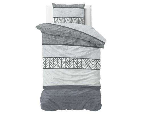 Grau Kissenbezug,Baumwoll Satin 140cm // 200cm // 220cm // 240cm Bettwäsche weiß