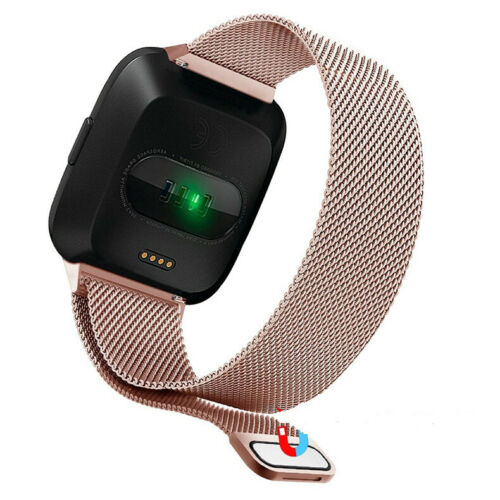 For Fitbit Versa 1 Band //2// Lite Silicone Strap Wristband Magnetic Sports Bands