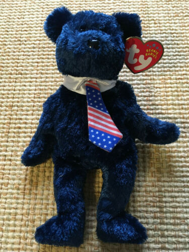 TY Beanie Baby Pops the Fathers Day Bear Brand New Fast 1st Class Shipping