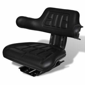 vidaXL-Tractorstoel-met-Rugleuning-Zwart-Tractor-Stoel-Zitting-Reservestoel