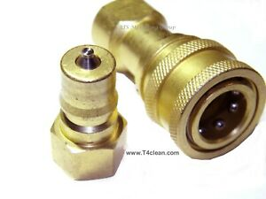 Carpet Cleaning Brass M//F Quick Disconnect for hoses wands