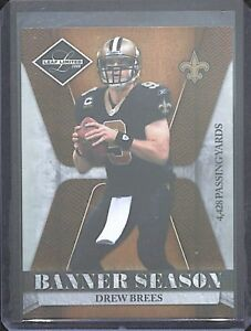 2008-Leaf-Limited-Banner-Season-BSM-18-Drew-Brees-No-74-of-100